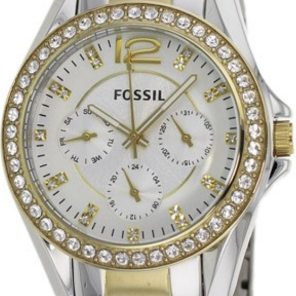 cc900489270 FOSSIL Women s Two Tone Fossil Riley